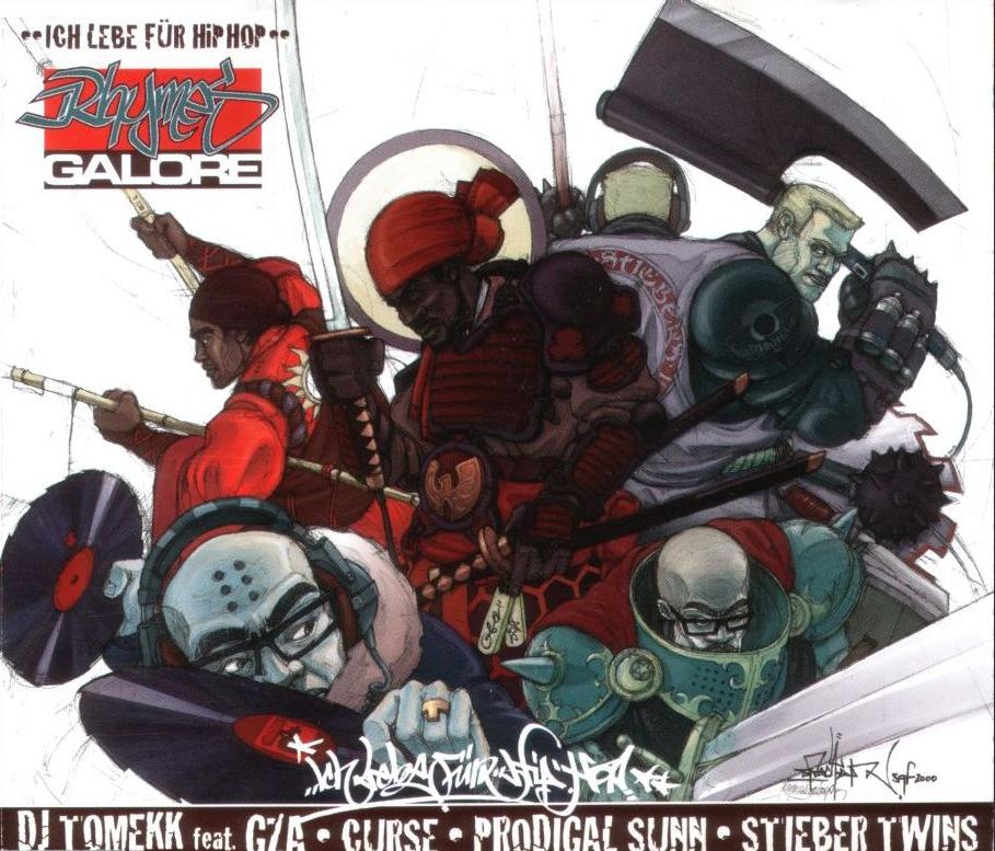 "2000 Single: ""Ich Lebe für Hip Hop"" feat. GZA (Wu Tang Clan), Prodigall Sunn (Sunz of Man), Curse, Stieber Twins."