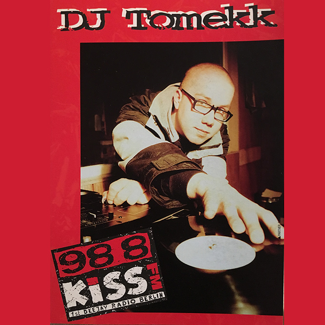 "1991 – First own Radioshow ""BOOGIE DOWN BERLIN"" on KISS FM"